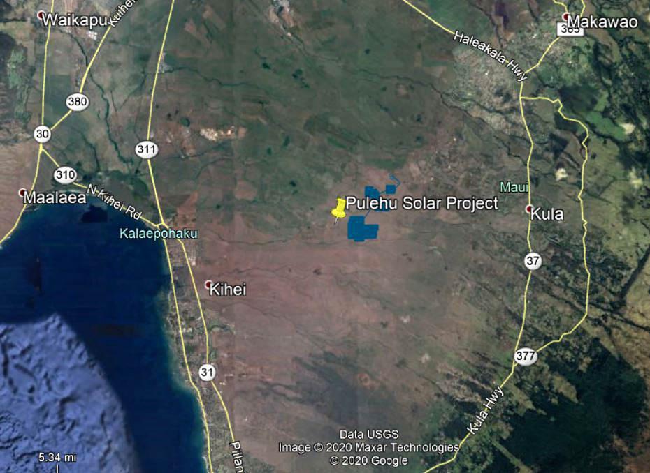 Pulehu location map